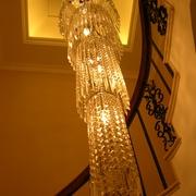 欧式风格复式楼水晶吊灯