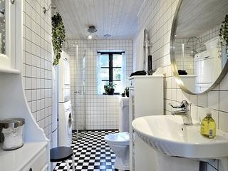 现代简约的黑白住宅欣赏卫生间