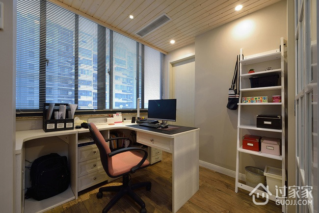135平简约三居室欣赏书房窗户设计