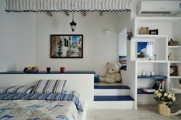 简约地中海风装饰卧室榻榻米