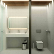 仓库改造的私人公寓欣赏卫生间