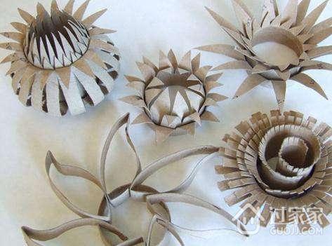 废旧卷纸筒如何制作花瓶和手工花