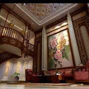 中式风格装修效果设计套图客厅背景墙