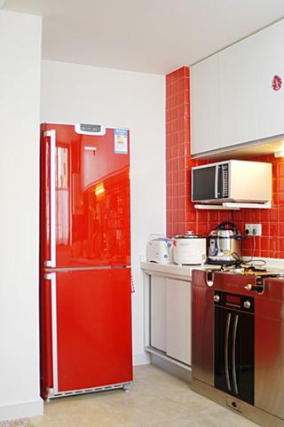 54平混搭舒适一居欣赏厨房局部
