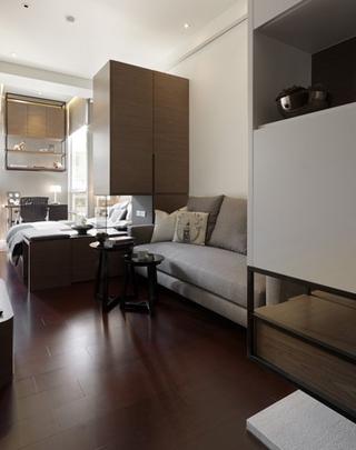 75平现代住宅欣赏客厅鞋柜
