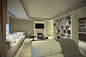 欧式别墅设计效果图储物架
