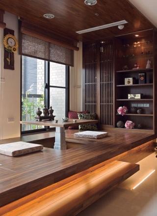 中式禅风两室一厅欣赏茶室