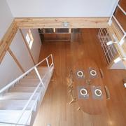 78平清爽日式风欣赏楼梯间