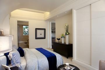 新古典三居室样板房案例欣赏卧室吊顶