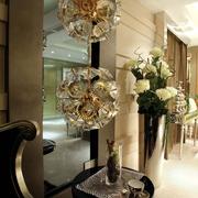 现代古典客厅花朵造型灯