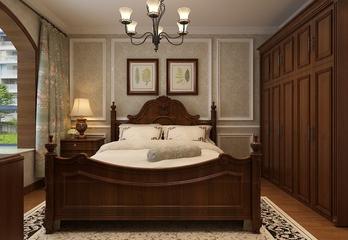 79平惬意美式住宅欣赏卧室背景墙