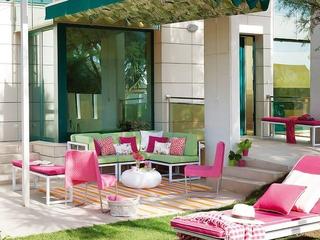 美式彩色阳光房欣赏庭院
