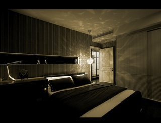 现代风格装修卧室背景墙