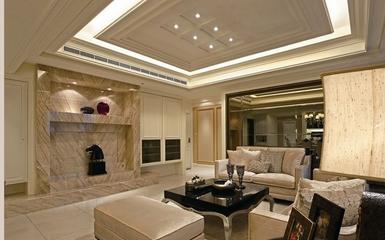 优雅新古典住宅欣赏客厅背景墙
