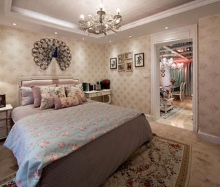 奢华欧式精装住宅欣赏卧室灯饰