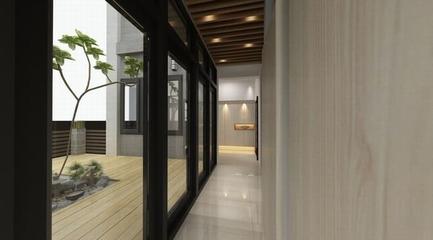 125平简约大气住宅欣赏阳台
