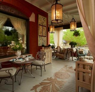美式家居效果图花园图片