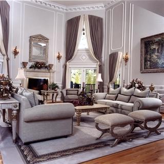 法式别墅装饰套图欣赏客厅