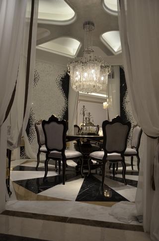 法式风三居住宅欣赏餐厅餐桌