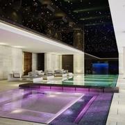 奢华现代别墅室内游泳馆