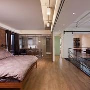 现代设计卧室全景