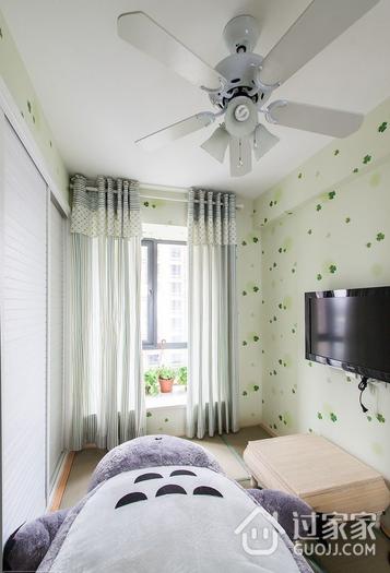 小清新卧室窗帘装饰图 不一样的美居