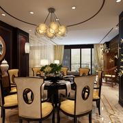 玩转新中式风 精美餐厅灯饰装修效果图