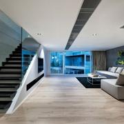 现代港式设计客厅全景设计