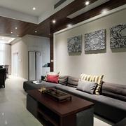 现代装饰两居室住宅欣赏