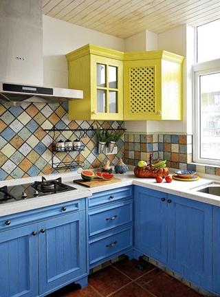 124平地中海温馨住宅欣赏厨房