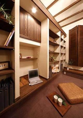 78平温馨两居室欣赏书房榻榻米