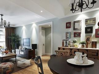 90平三室两厅住宅欣赏客厅全景