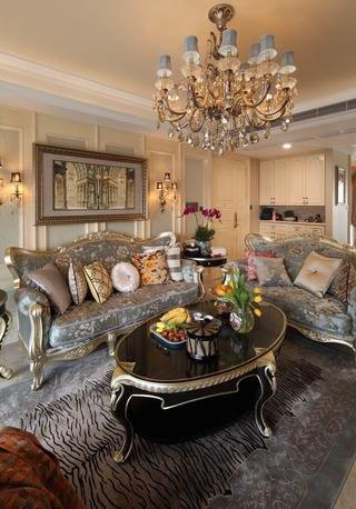欧式家居风情 客厅沙发摆放图