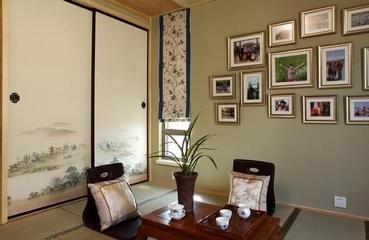 116平新中式住宅欣赏茶室