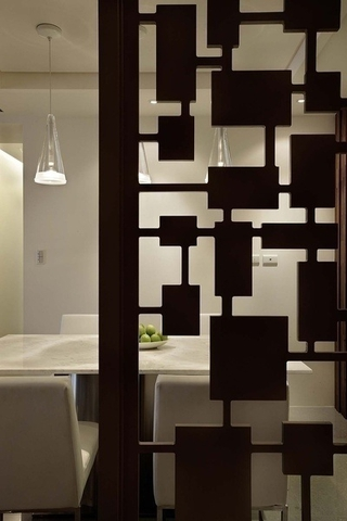 120平现代舒适案例欣赏餐厅摆件