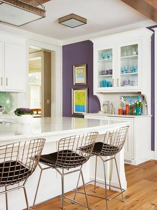 简欧紫色风情住宅欣赏厨房