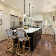 简欧风格效果图厨房吧台
