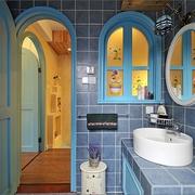 77平蓝色地中海住宅欣赏