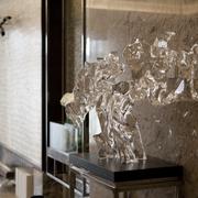 客厅水晶摆件效果图