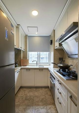 88平美式两居室案例欣赏厨房橱柜