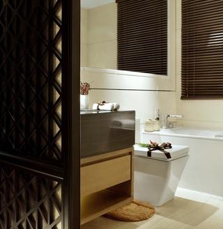 奢华中式样板房欣赏卫生间窗帘
