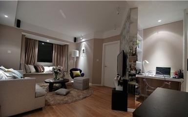 91平简约三居室欣赏客厅飘窗