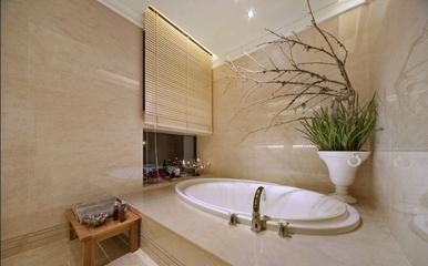 精品温馨简约三居室欣赏卫生间窗帘