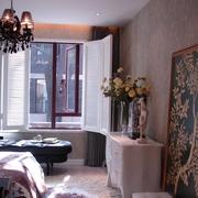 新古典复式设计卧室窗户