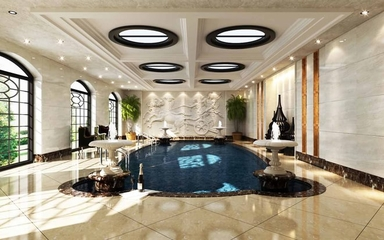 320平欧式风欣赏室内泳池