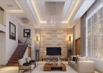 105平现代白色复式楼欣赏