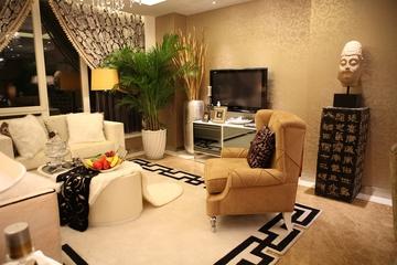 88平新古典样板房欣赏客厅窗户