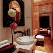 东南亚设计风格住宅卫生间台面