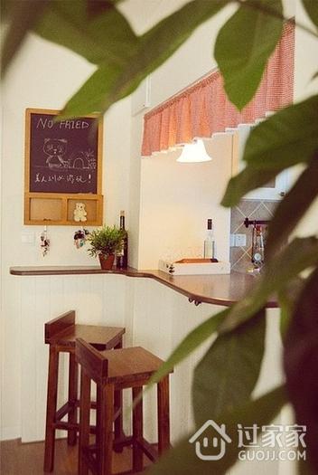 62平简约小两居住宅欣赏厨房吧台