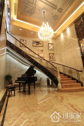 110平简欧三居室案例欣赏楼梯